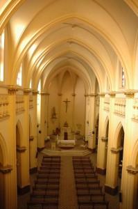 El interior de la iglesia de San Vicente Ferrer.