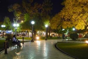 Plaza principal de Godoy Cruz.