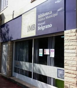 Frente Biblioteca cuando estaba en Calle Azcuenaga